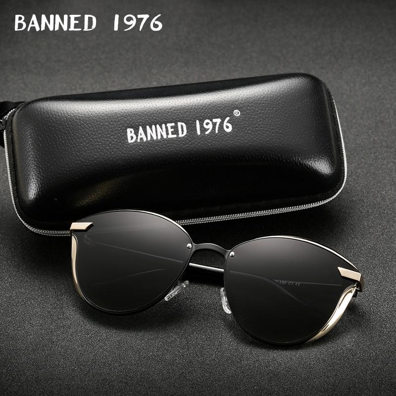 BANNED 1976 Luxury Women Sunglasses Fashion Round Ladies Vintage Retro Brand Designer Oversized Female Sun Glasses oculos gafas 3