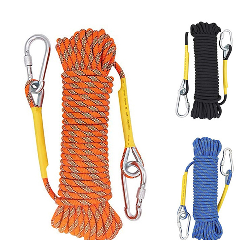 10m-30M Outdoor Rock Climbing Rope Rock Climbing Equipment 8mm Diameter Emergency Paracord Rescue Safety  Accessory