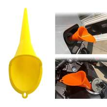 Car Refueling Long Funnel Oil Additive Motorcycle Farm Machine Funnel Car Refueling Longer Funnel Gasoline Engine(Yellow)(China)