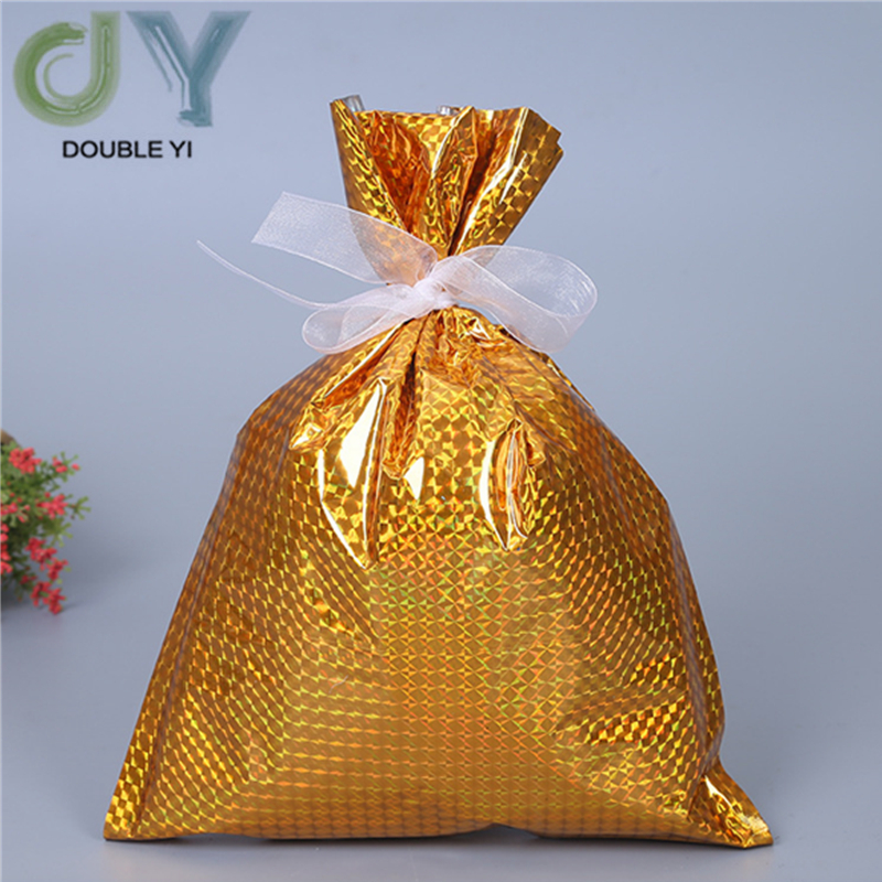 Christmas Yellow Candy Storage Bag For The Elderly Snowflake Bundle Pocket Gift Bag For Children 2pcs/pack