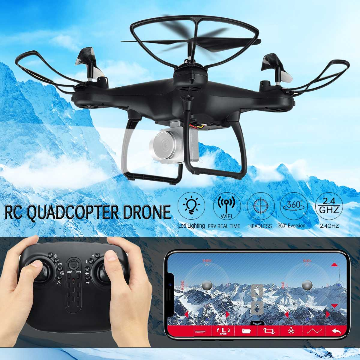 RC Quadcopter Drone with without Camera HD 1080P WIFI FPV Selfie Camera Drones Professional Foldable 6 channels voice control