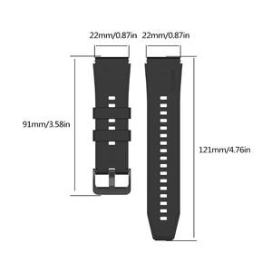 Image 3 - 22 مللي متر الرياضة سيليكون باند ل LS05 حزام الساعات لسامسونج غالاكسي ساعة 3 45 مللي متر هواوي gt 2 برو سوار X6HA