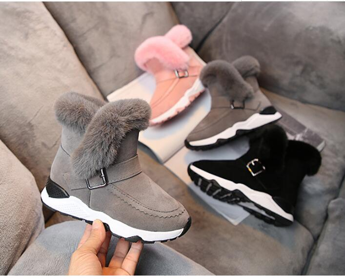 Children's Snow Boots 2019 Winter New Boys And Girls Boots Boots And Velvet Children's Cotton Shoes To Keep Warm