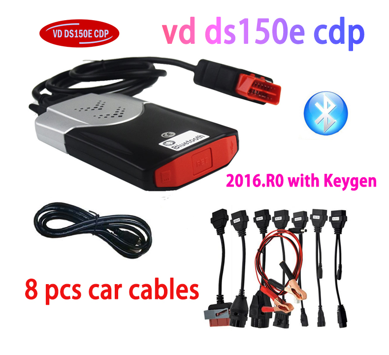 FreeShip 2019 <font><b>VD</b></font> <font><b>DS150E</b></font> CDP Bluetooth 2016.R0 with Keygen on cd Diagnostic for delphis Cars truck OBD2 obdii Scanner tcs cdp pro image