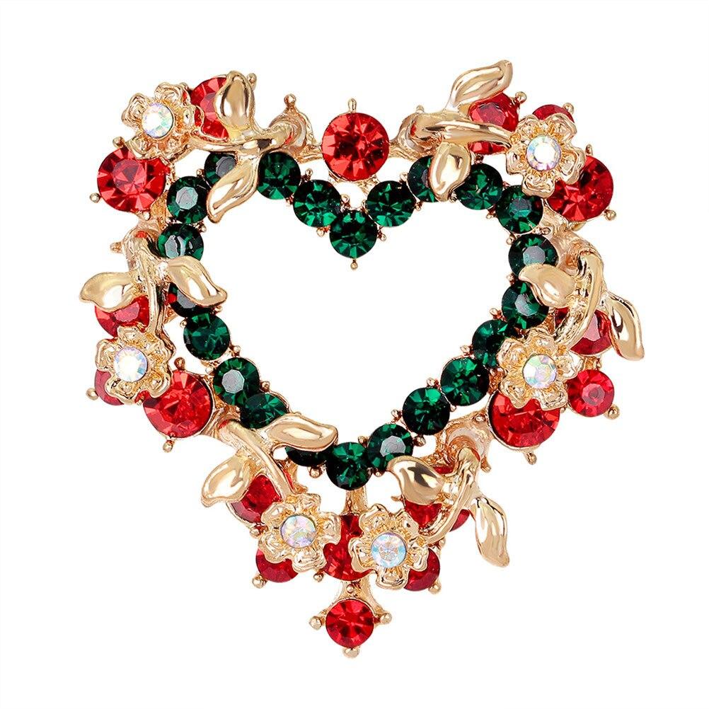 1 шт. Любовь Сердце гирлянда брошь модные украшения для одежды аксессуар для женщин Рождественский подарок на день Святого Валентина