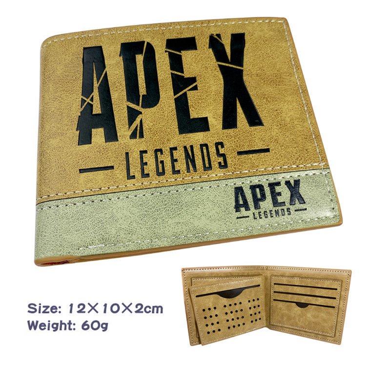 Apex Legends Battle Royale Hero Pu Two Fold Wallet Wallet Wallet Purse
