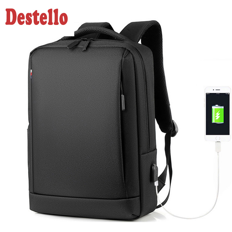 Men Backpack Laptop Nylon Waterproof Laptop Bag 15.6 Inch Male Travel Bags Business Backpack Multifunction Backpack Bags