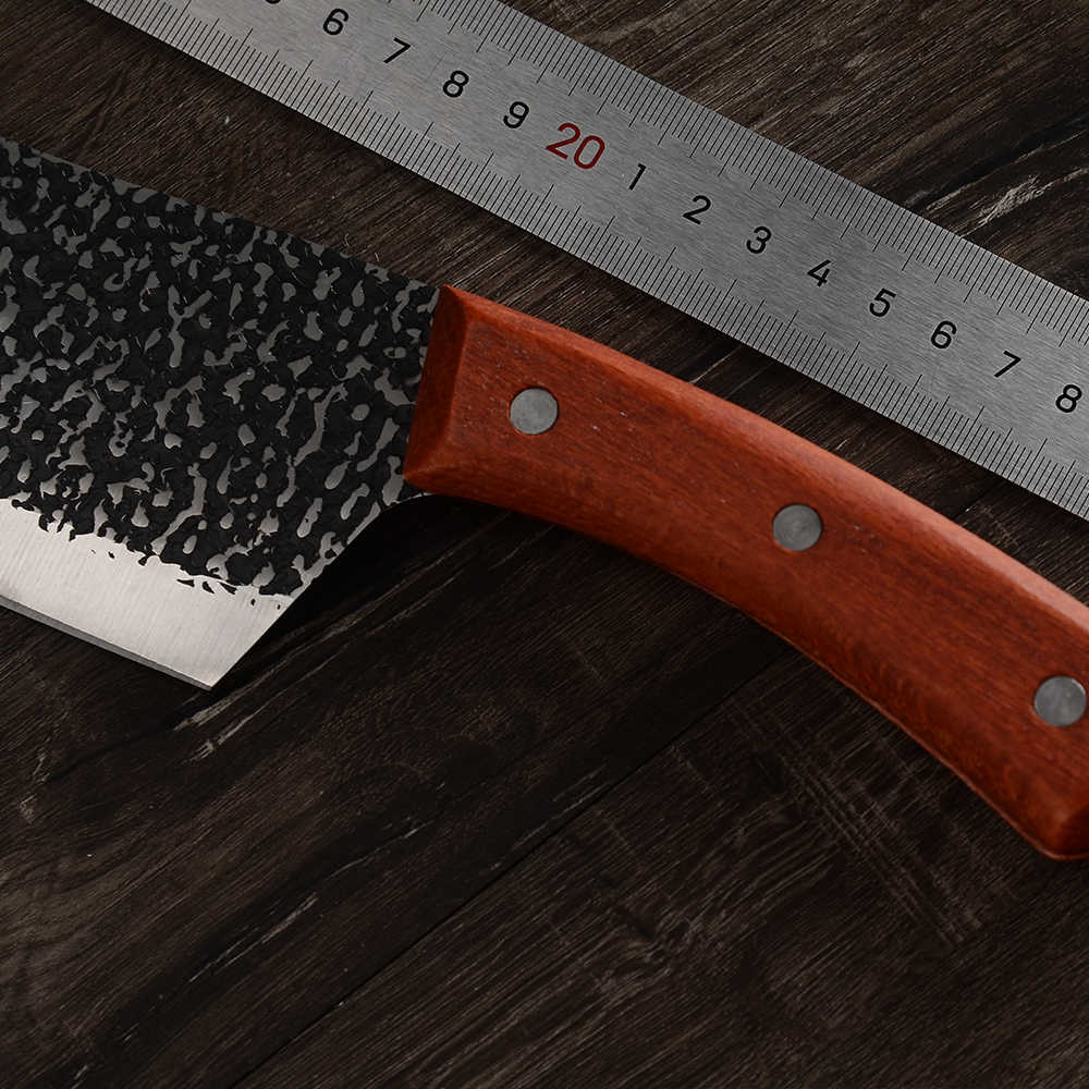 XYj Handgemachte Geschmiedet Hohe Carbon Verkleidet Edelstahl Metzger Messer 8 zoll Schlachtung Hacken Messer Hackmesser Filetieren Slicing Küche Messer