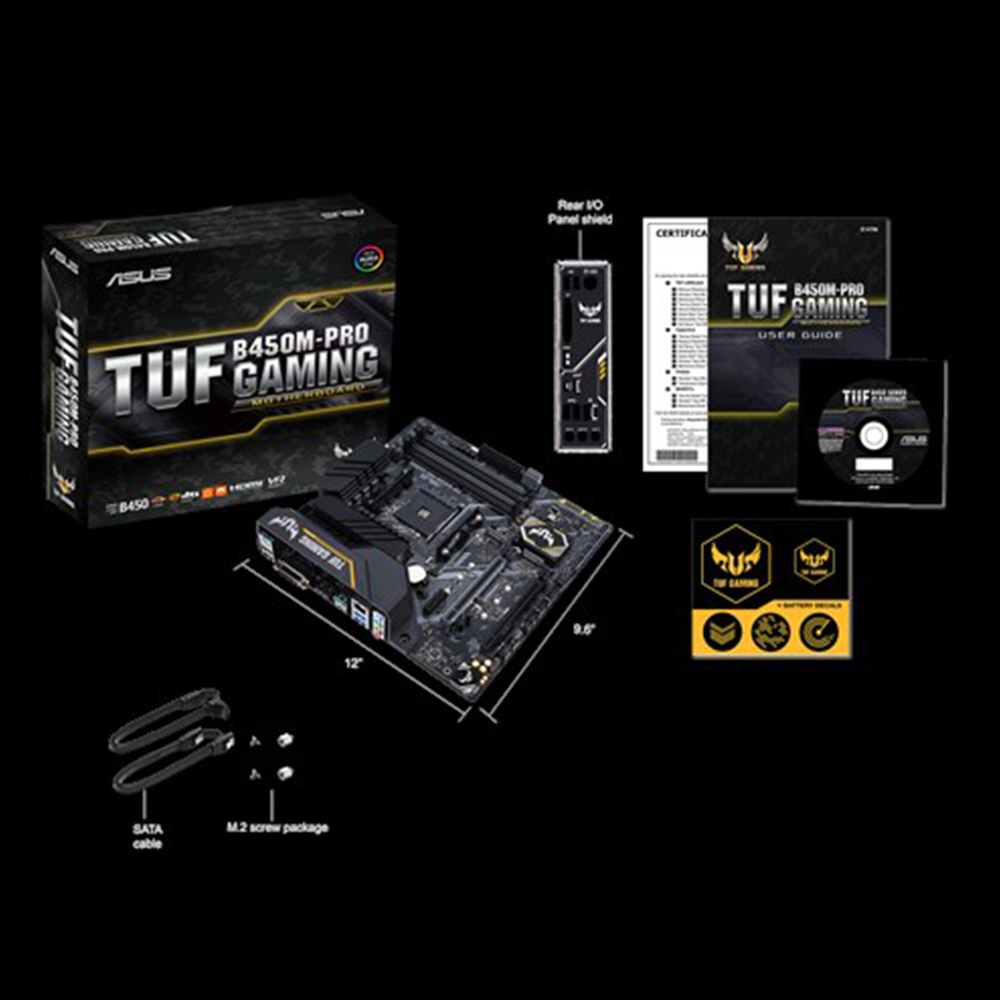 New <font><b>ASUS</b></font> TUF <font><b>B450M</b></font>-PRO <font><b>GAMING</b></font> motherboard DDR4 Socket AM4 Desktop Mainboard DDR4 Dual Channel 64GB original motherborad image