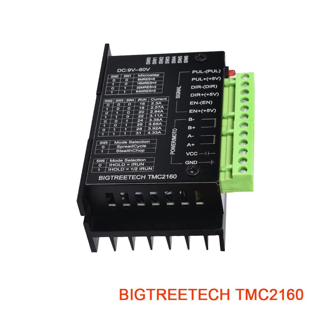 BIGTREETECH TMC2160 V1.2 High Power Stepper Driver Fit TMC5160Motion Controller 3D Printer Parts Ultra Fully Board Module CNC
