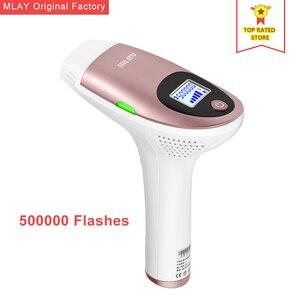 Image 1 - MLAY épilateur électrique à lumière pulsée et Laser indolore permanente pour épilation du visage et du corps, aisselles, maillot, FDA 500000 photos