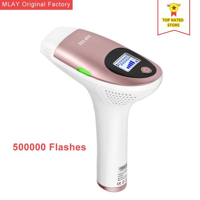 MLAY épilateur électrique à lumière pulsée et Laser indolore permanente pour épilation du visage et du corps, aisselles, maillot, FDA 500000 photos
