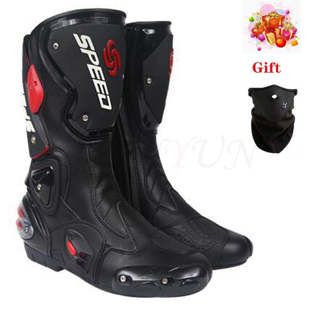 Nouveau style cyclisme bottes en cuir bottes de moto bottes de course bottes d'équitation imperméable coupe-vent Motocross bottes de course 4 saisons