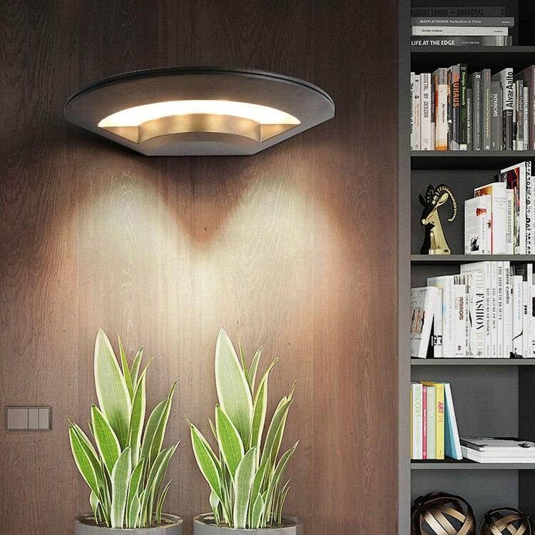 Luminária de parede led ufo para áreas externas e internas de 4w