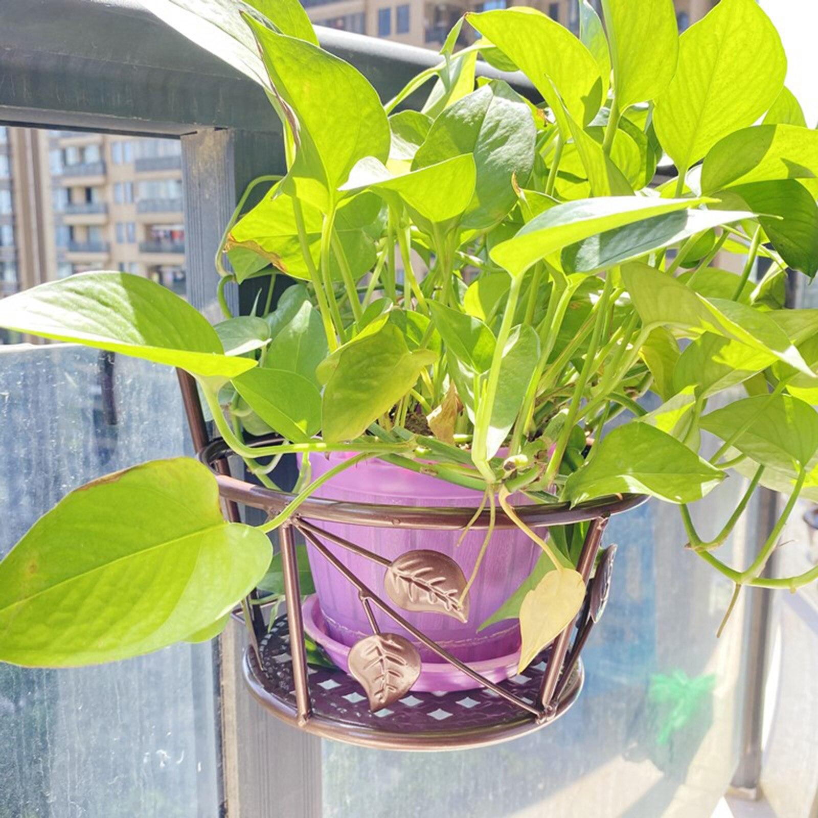 Balcony Railing Flower Pot Holder Flower Rack Hanging Planter Shelf