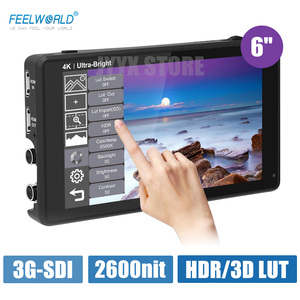 Image 3 - FEELWORLD LUT6S LUT6 6 Inch 2600nits 3D LUT HDR Touch Screen DSLR Camera Field Monitor  3G SDI 4K with Waveform VectorScope