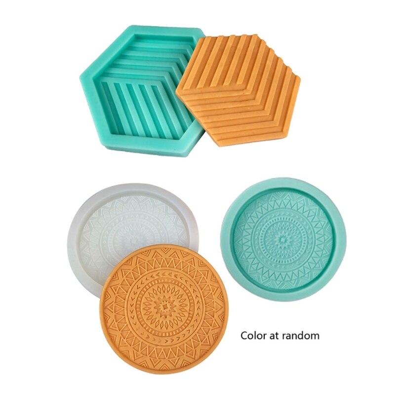 Круглые силиконовые формы для подставки «сделай сам», формы для подставки под чайник в виде чайного коврика, форма для литья из смолы R3MC