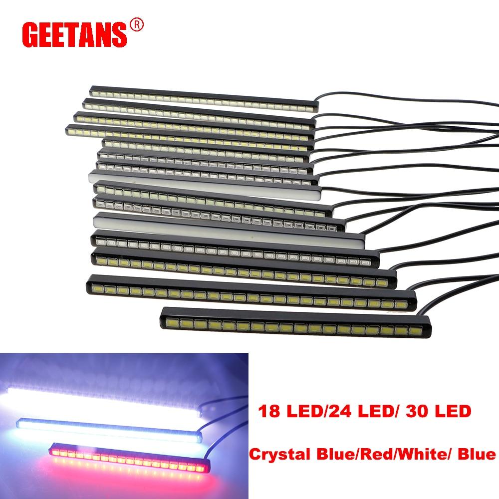 2PCS Tagfahrlicht Nebel Licht Auto DRL18/24/30LED Tageslicht Led Streifen Tag Licht Aluminium Gehäuse auto Styling Auto Scheinwerfer