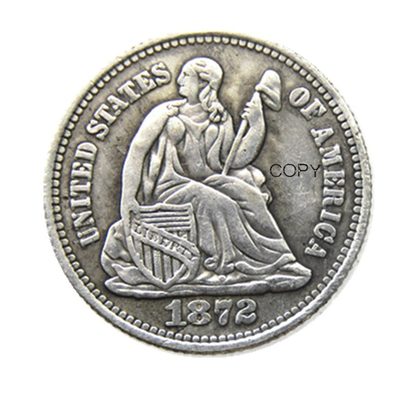 USA 1872P/S Liberty Seated Half Dime Legend Obverse Copy Coins
