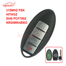 Kigoauto 315MHZ FSK HITAG-2 ID46 PCF7952 For Infiniti KR55WK48903 Smart Remote Key Fob 4 Buttons Keyless