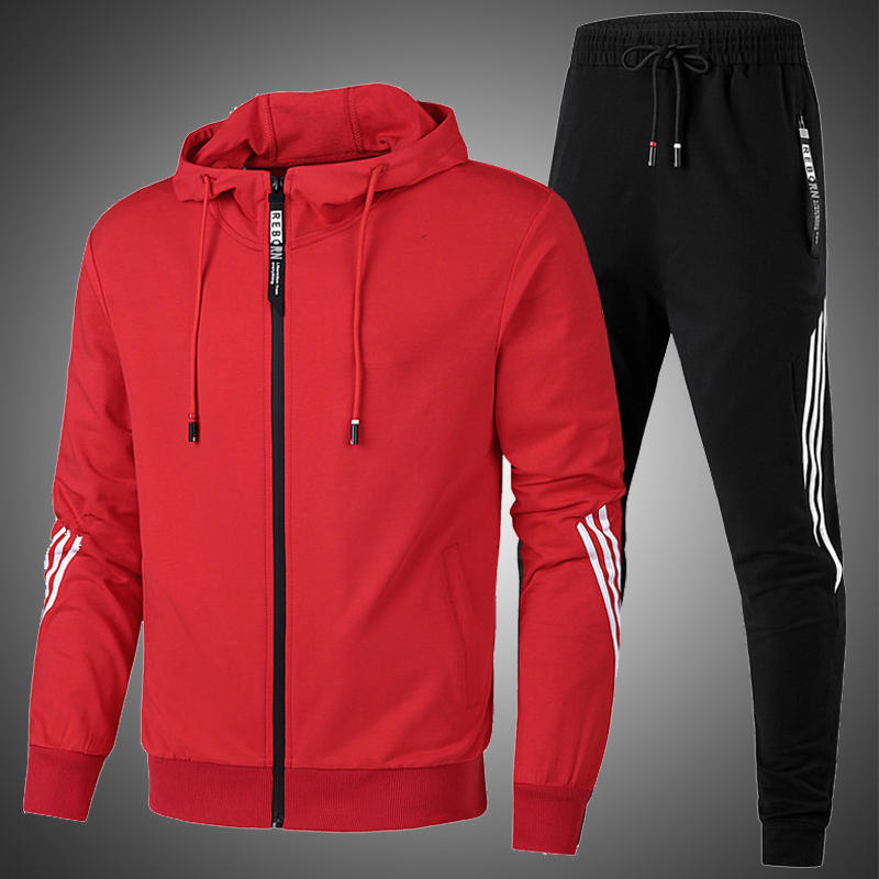Tracksuit-Set Pants Sportswear-Set Sweatshirts Hoodies Jogger Running Winter Men Fashion