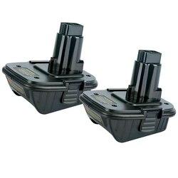 2 Pack DCA1820 Li-Ion Battery Adapter Converter for DEWALT 20V to 18V Max Lithium Ion Tools