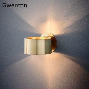 Image 1 - Современный роскошный золотой настенный светильник, светодиодный настенный светильник, настенные светильники, зеркальный светильник s для дома, арт деко, лофт, промышленный светильник, светильник для лестницы