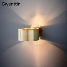 מודרני יוקרה זהב קיר מנורת Led פמוט קיר אור גופי מראה אורות לבית אמנות דקו לופט תעשייתי מנורת מדרגות luminaire