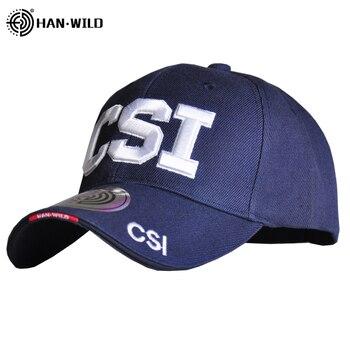 HAN WILD Csi Army Tactical Cap Baseball Cap Outdoor Embroidered Baseball Caps Male Casual Snapback Bone Casquette Dad Hat Unisex