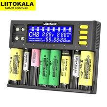 Liitokala Lii-S8 carregador de bateria li-ion 3.7v nimh 1.2v Li-FePO4 3.2v imr 3.8v carregador para 18650 26650 21700 26700 aa aaa