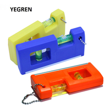 Portable Chain Level Meter 100 mm Spirit Level Yellow Blue Orange Horizontal Measuring with Magnetic Base 2 Level Bubble
