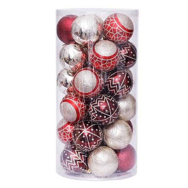 30 шт 6 см красочные блестящие Рождественские шары 2020 натальные