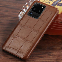 Luxury Natural Crocodile Leather case For Samsung Galaxy S20 Ultra s10 S9 S7 S8 s20 plus Note 10 Plus a71 a50 a70 A51 a7 a8 2018