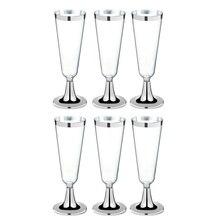 6 шт одноразовые пластиковые красные винные стеклянные бокалы для шампанского бокалы es Коктейльные Вечерние стаканчики для напитков на свадьбу, рождественские чашки Западной кухни S