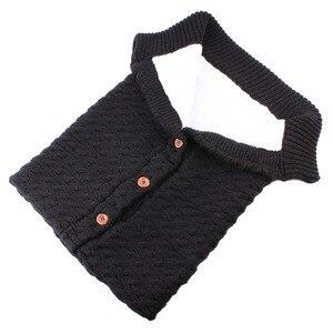 Image 5 - Warm Blanket Soft Baby Sleeping Bag Footmuff Cotton Knitting Envelope New Born Boy Girl Swad Wrap Accessories Sleepsacks Fashion