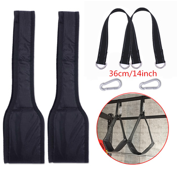 Fitness AB Sling Straps Suspension Rip-Resistant Heavy Duty Pair for Pull Up Bar Hanging Leg Raiser Home Gym Fitness Equipment 11