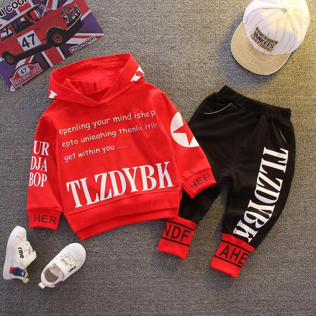 2020 Autumn Baby Clothes Children Boys Girls sport letters Hoodies Pants 2Pcs/sets Toddler Active Clothing Infant Kids Tracksuit