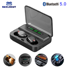 V5.0 TWS Wireless Bluetooth Earphone HD 8D Stereo Earbuds Noise Canceling Gaming