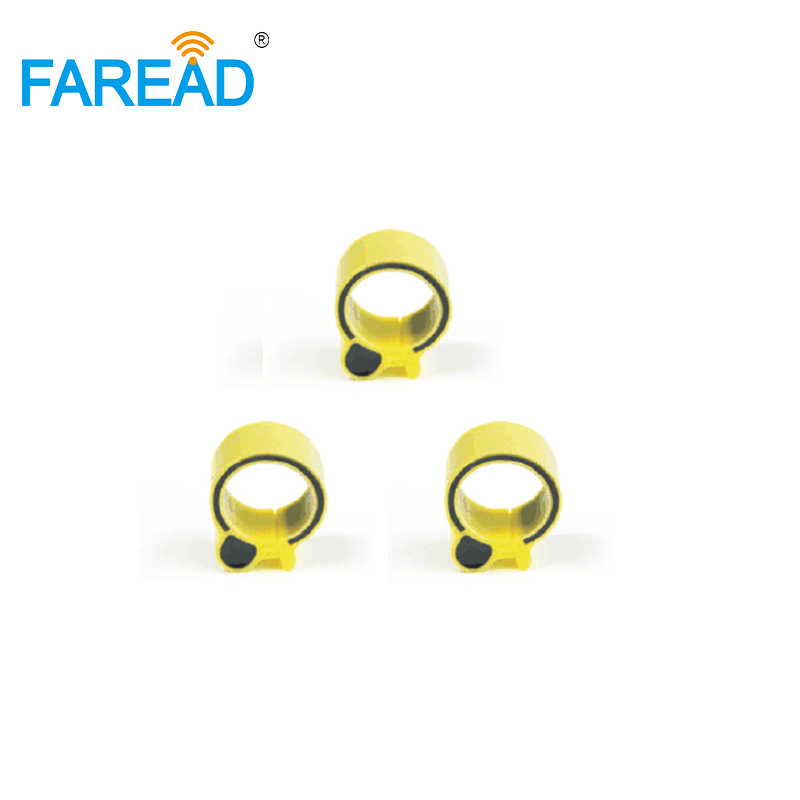 Free Shipping X100pcs 18mm RFID Hitag-S256 Chip 134.2KHz ISO11784 FDX-B RFID Foot Ring For Chicken Duck Gooses Animal Tracking