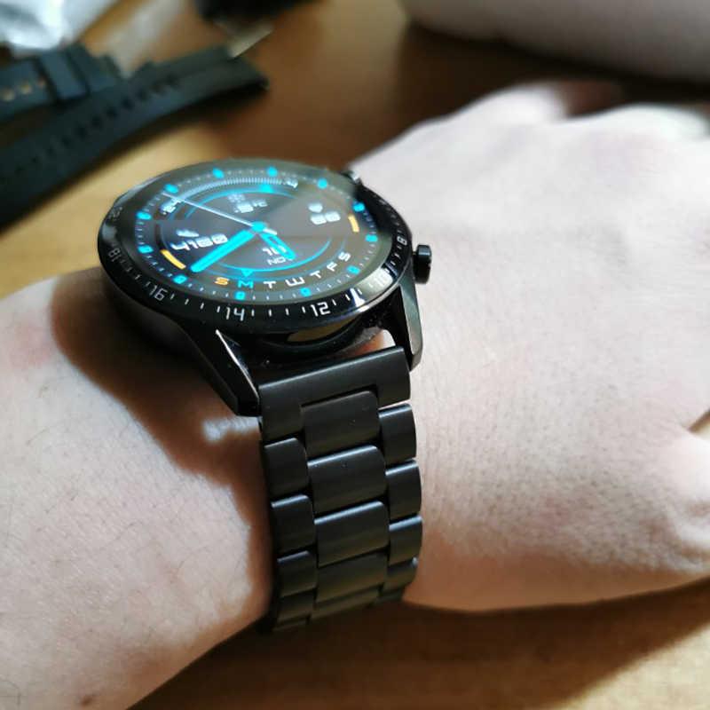 Correa de Metal Original para Huawei Watch GT, repuesto de pulsera de 22mm de acero inoxidable para LEM12 LF26