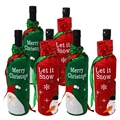 Набор из 6 мешков для винных бутылок-идеально подходит для рождественских винных подарков и других-идеальные рождественские вечерние украш...