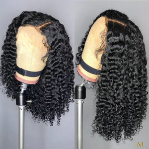 150% density Coily Curls Afro Bouncy Kinky Curly Hair Wig 13x4 Remy Brazilian Lace Front Human Hair Wigs For Black Women JKO(China)