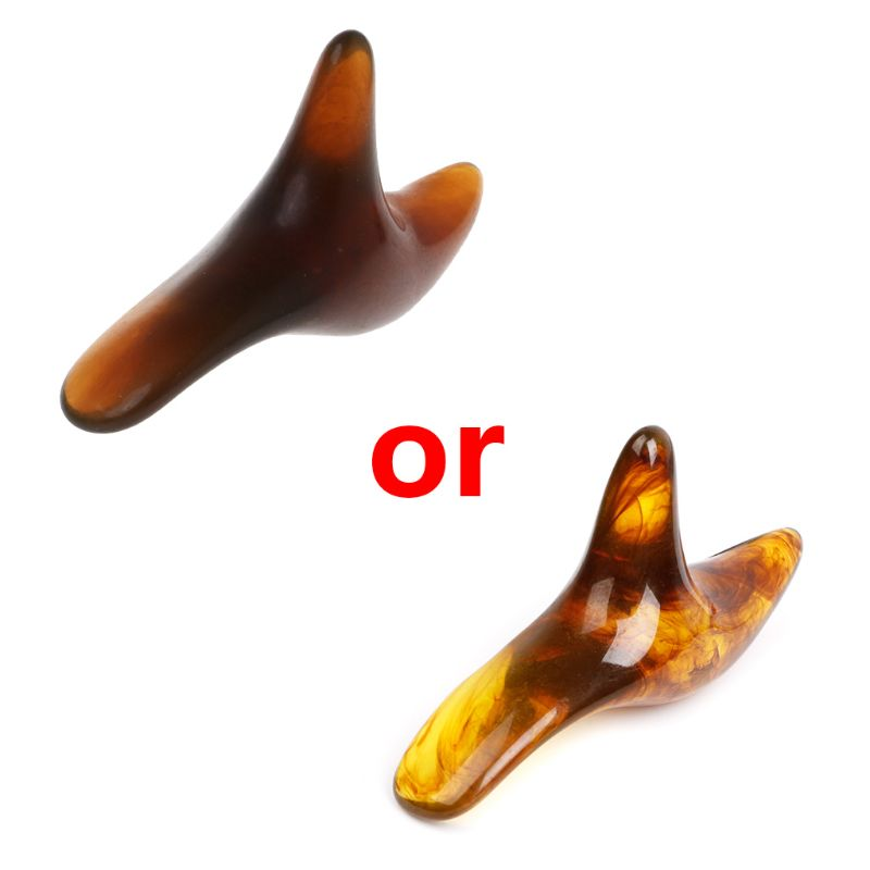 Amber Resin Wax Triangle Foot Feet Massager Gua Sha Acupuncture Shiatsu Tool