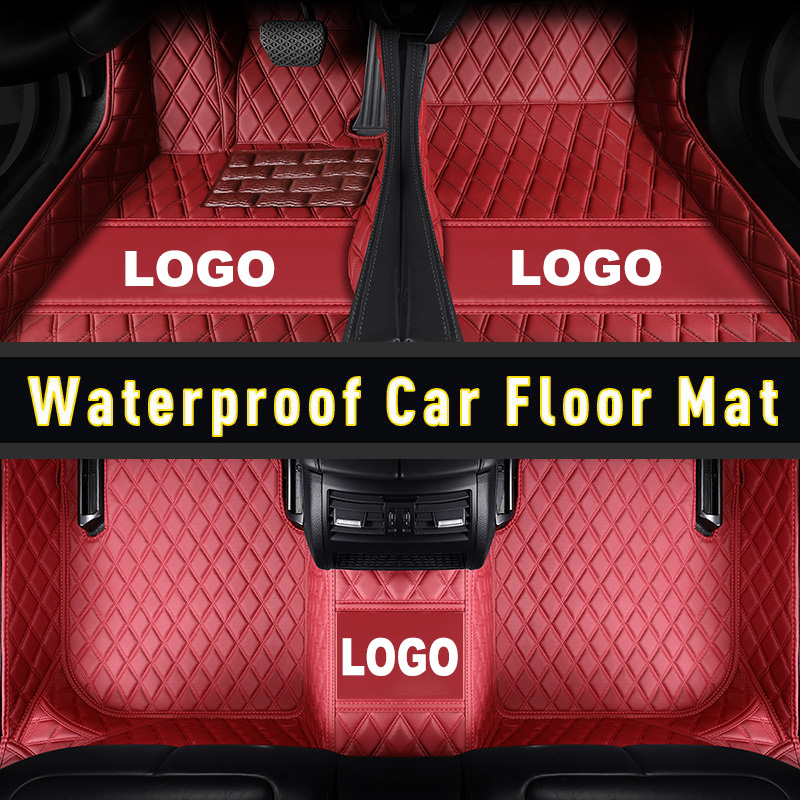 CARFUNNY Waterproof leather car floor mats for <font><b>LEXUS</b></font> GX400 GX460 <font><b>GX470</b></font> car <font><b>accessories</b></font> image