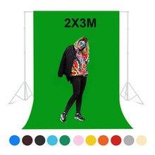 Selens 2X3M Photography Background Photo Studio Green Screen ChromaKey Backdrops Non Woven Shoot Backdrop For Studio Photo light