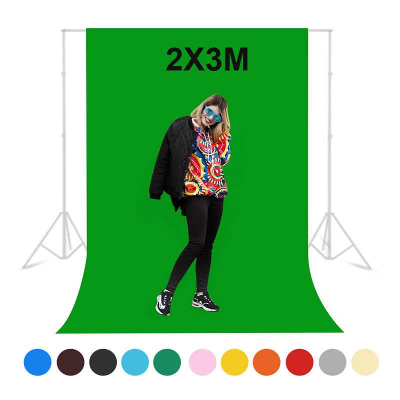 Selens 2X3M fondo de fotografía estudio de foto pantalla verde fondos cromakey no tejido Shoot telón de fondo para la luz de la foto del estudio