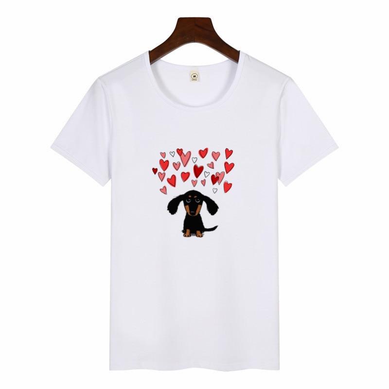 Dachshund Pug Terkel Funny T Shirt Women Harajuku Cute French Bulldog German Shepherd Print T-shirt Female Casual O-neck T Shirt