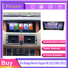 Car radio Multimedia Player GPS Navi Head Unit  For Range Rover Vogue V8 L322 2002-2012 Car Audio 2 Din Android Stereo Receiver