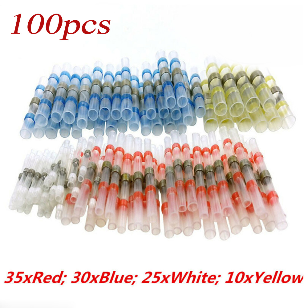 100Pcs 4 Sizes Solder Sleeve Heat Shrink Tube Wire Terminal Connectors Waterproo High Quality