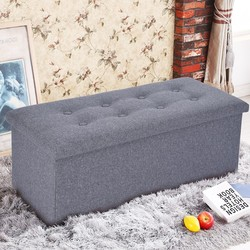 Multifunctional Fabric Storage Stool Bench Box Small Sofa Minimalist Artistic Style Kid Chair Foot Stool Sofa Stool Gray g3